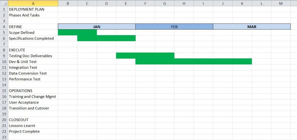 microsoft project in excel